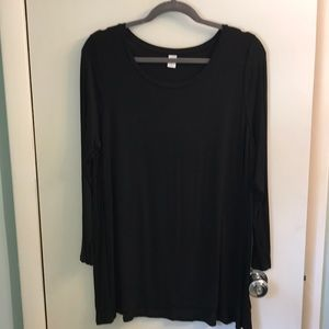 Old Navy 3/4 Sleeve Black Tunic Top